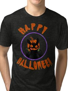toothless wishes a happy halloween Tri-blend T-Shirt