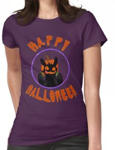toothless wishes a happy halloween Womens Fitted T-Shirt