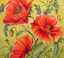 Dancing Poppies by FranEvans