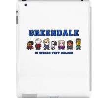 8-bit Greendale is Where They Belong (College Text) iPad Case/Skin