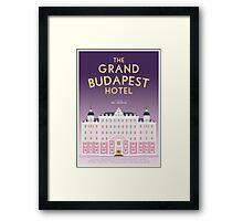 The Grand Budapest Hotel film poster Framed Print
