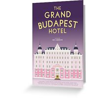 The Grand Budapest Hotel film poster Greeting Card