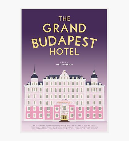 The Grand Budapest Hotel film poster Photographic Print
