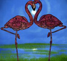 Flamingos by Ben Geiger