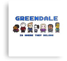 8-bit Greendale is Where They Belong (Video Game Text) Metal Print