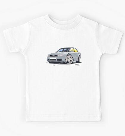 Audi S4 (B5) Silver Kids Tee