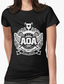 AOA White Womens Fitted T-Shirt