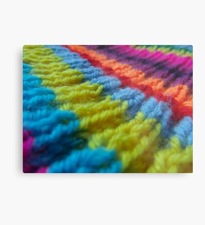 Rainbow knit Metal Print