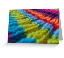Rainbow knit Greeting Card