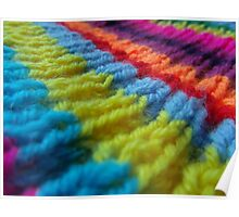 Rainbow knit Poster