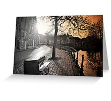 Bruges Canal Scene Greeting Card