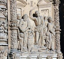 details of the famous Catholic cathedral in Astorga, Spain by james633