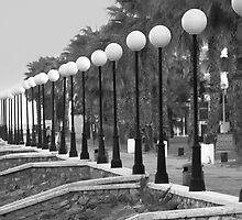 seaside promenade with street lights by james633