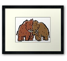 a couple of mammoth Framed Print