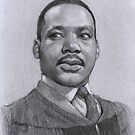 Martin Luther King Jr by thedrawinghands