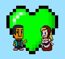 Love in 8-bit: Abed and Hilda (style A) by oncenfuturekiki