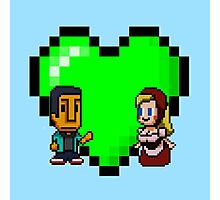 Love in 8-bit: Abed and Hilda (style A) Photographic Print