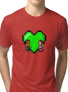 Love in 8-bit: Abed and Hilda (style A) Tri-blend T-Shirt