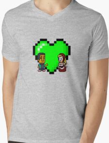 Love in 8-bit: Abed and Hilda (style A) Mens V-Neck T-Shirt
