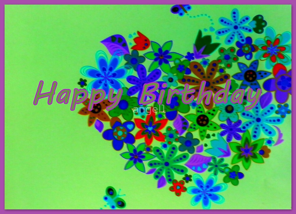 Happy Birthday in Green by ©The Creative  Minds
