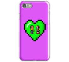 Love in 8-bit: Abed and Hilda (style B) iPhone Case/Skin