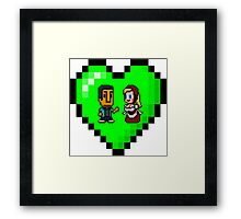 Love in 8-bit: Abed and Hilda (style B) Framed Print
