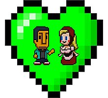 Love in 8-bit: Abed and Hilda (style B) Photographic Print