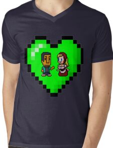Love in 8-bit: Abed and Hilda (style B) Mens V-Neck T-Shirt