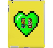 Love in 8-bit: Abed and Hilda (style B) iPad Case/Skin