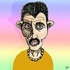 Freddie Mercury Cartoon Caricature by Grant Wilson
