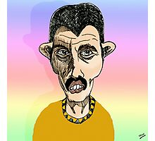 Freddie Mercury Cartoon Caricature Photographic Print