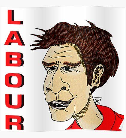 Ed Miliband Cartoon Caricature 2 Poster