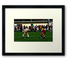 110711 156 0 impressionist field hockey Framed Print