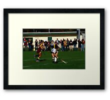 110711 160 1 water color field hockey Framed Print