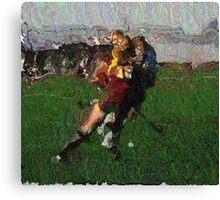 110711 162 0 pointillist field hockey displace Canvas Print