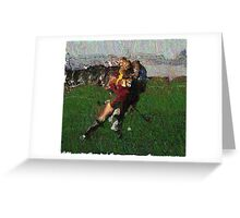 110711 162 0 pointillist field hockey displace Greeting Card