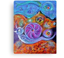 Let's Say a Snail Canvas Print