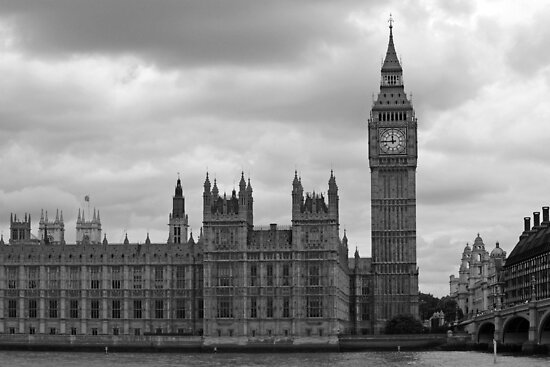 Westminster in black and white by Tony Steel