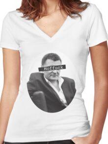 Moffuck Women's Fitted V-Neck T-Shirt