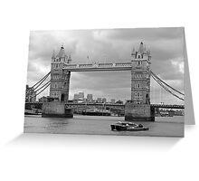 Tower Bridge in Black & White Greeting Card
