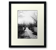 Melrose Lane Framed Print