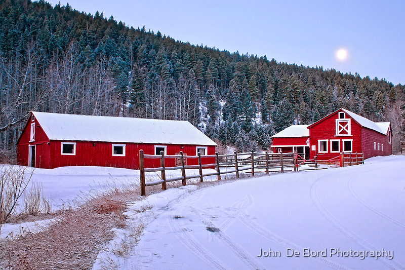 The Winter Rural Route II by John  De Bord Photography