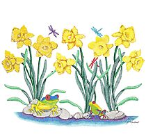 Daffodil Parade Photographic Print
