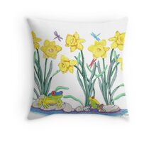 Daffodil Parade Throw Pillow