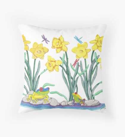 Daffodil Parade Throw Pillow