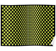 Optical Dots Green Poster