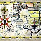 Life Map, Alma Lee,sketchbook journal project 2012 by Alma Lee