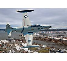 T-33 Over Tacoma  Photographic Print