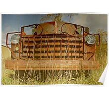 Rusty Chevrolet Truck | East Moriches, New York  Poster