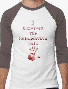 I Survived The Reichenbach Fall Men's Baseball ¾ T-Shirt